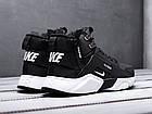 Мужские зимние кроссовки Nike Huarache Acronym Black высокие Найк Аир Хуарачи Акроним в стиле черные, фото 5