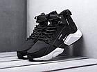 Мужские зимние кроссовки Nike Huarache Acronym Black высокие Найк Аир Хуарачи Акроним в стиле черные, фото 2