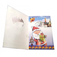 "Открытка музыкальная с конвертом ""Merry Christmas"" (19х13 см) ( 32182)"