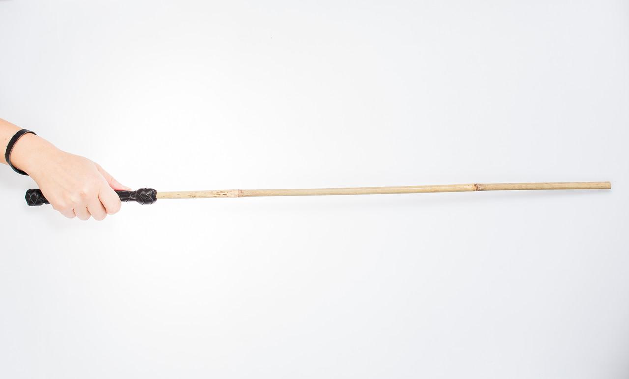 Трость бамбукова, плеть бдсм, ручная работа, натуральная кожа
