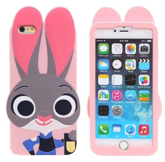 Силиконовый чехол Кролик Джудди для Iphone 6 6S