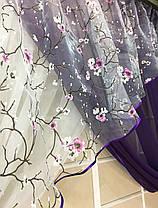 """Кухонные шторы """"Сакура"""" Фиолет, фото 3"""