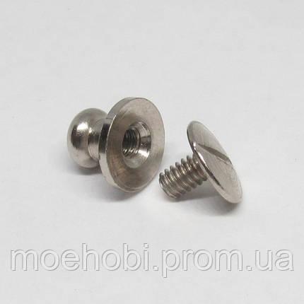 Винт для кобуры (4мм) никель  5078, фото 2