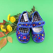 Тапочки в садик оптом украинского производства Vitaliya для мальчика р. 19 по 22,5, фото 2