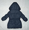Куртка зимняя для девочки темно-синяя (QuadriFoglio, Польша), фото 5