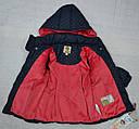 Куртка зимняя для девочки темно-синяя (QuadriFoglio, Польша), фото 6