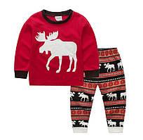 Пижама детская с оленями