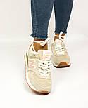 Зимові жіночі кросівки New Balance 574 beige fur. Живе фото (Репліка ААА+), фото 4