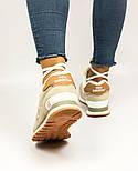 Зимові жіночі кросівки New Balance 574 beige fur. Живе фото (Репліка ААА+), фото 3