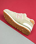 Зимові жіночі кросівки New Balance 574 beige fur. Живе фото (Репліка ААА+), фото 6