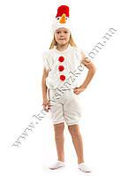 Новогодний костюм Снеговика красный
