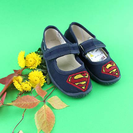 Тапочки оптом для садка хлопчик текстильні туфлі Vitaliya Віталія Україна розмір 23 по 27, фото 2