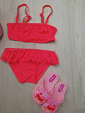 Купальник раздельный для девочки розовый -160-07, фото 3