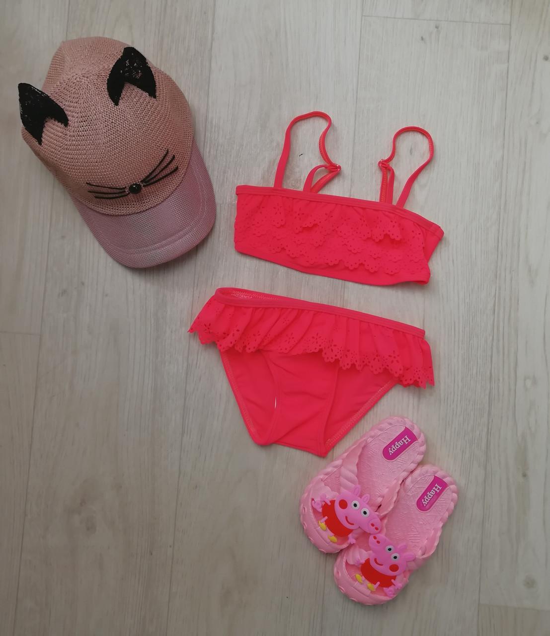 Купальник раздельный для девочки розовый -160-07