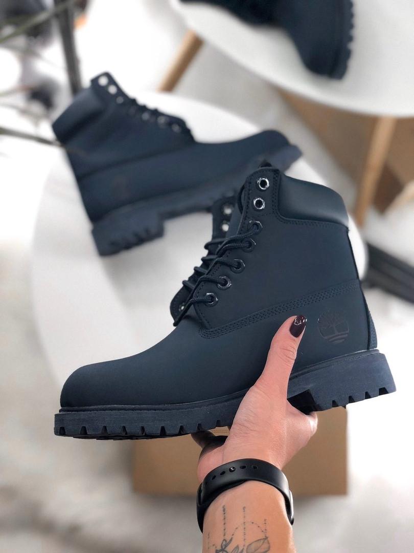 Мужские ботинки Timberland Dark Blue Fur (Искусственный мех) cb2b7abeb83fa