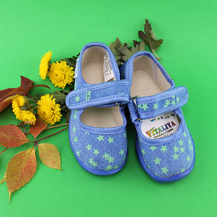 Домашние тапочки для детей в садик на мальчика текстильная обувь Виталия Украина размеры 19 по 22,5, фото 2