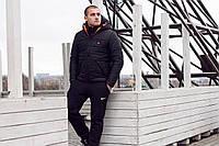 Теплая мужская куртка Nike SB с оранжевым логотипом топ реплика