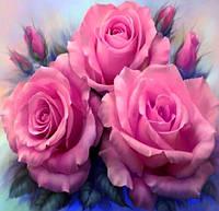 Алмазная вышивка на подрамнике Розовые розы 25 х 25 см (арт. TN310)