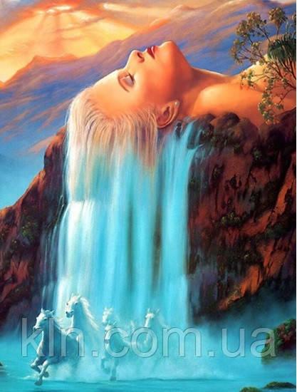 Алмазная вышивка на подрамнике Волшебный водопад 30 х 40 см (арт. TN501)