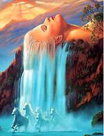 Алмазная вышивка на подрамнике Волшебный водопад 30 х 40 см (арт. TN501), фото 1