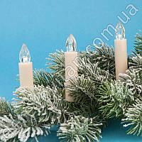 Набор LED-свечей на прищепках с пультом, 10 шт, 1.5×10 см