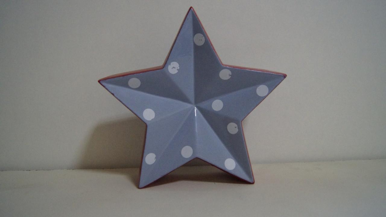 Декоративна фігурка голуба в горошок керамічна