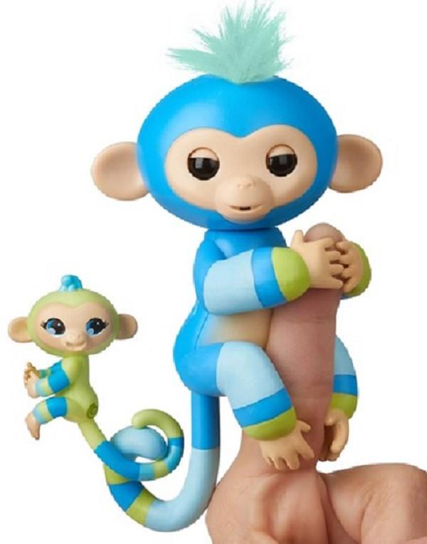 Интерактивная обезьянка Билли с мини-обезьянкой Fingerlings WowWee