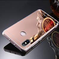 """Чехол Xiaomi Mi 8 6.21"""" силикон зеркальный розовое золото"""