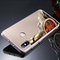 """Чехол Xiaomi Mi 8 6.21"""" силикон зеркальный золотой"""