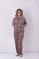 Махровая пижама женская очень тёплая