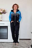 Костюм велюровый  женский  с капюшоном