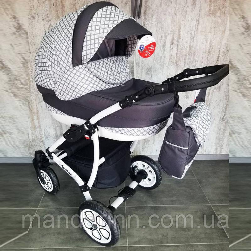 """Детская коляска универсальная 2 в 1 """"AVALON"""" Dark-blue"""