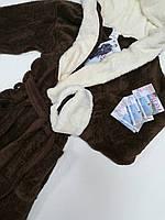 Мужской махровый халат c капюшоном 2XL