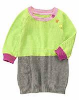Вязаное платье для девочки. 12-18, 18-24 месяцев