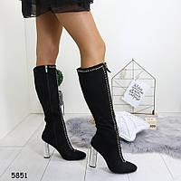 Сапоги осенние на каблуках в Украине. Сравнить цены 41d0089e548e8