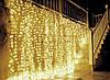 Светодиодная Гирлянда Штора Бахрома Новогодняя 120 LED Лампочек 3 х 0,5 м Цвета в Ассортименте, фото 4