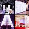 Светодиодная Гирлянда Штора Бахрома Новогодняя 120 LED Лампочек 3 х 0,5 м Цвета в Ассортименте, фото 6