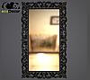 Зеркало настенное Samarkand в черной с белым раме R3, фото 2