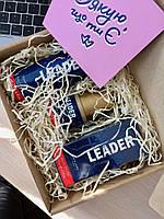 Мужской набор Leader подарок мужчине в коробке Лидер