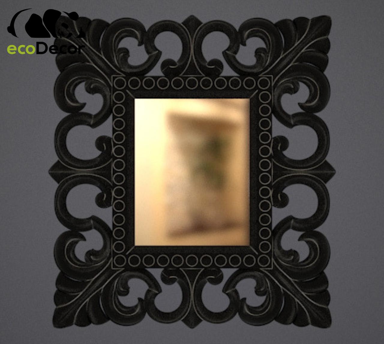 Зеркало настенное Santo в черной с белым раме