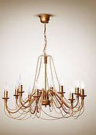 Люстра 10-ти ламповая, для большой комнаты, зала, спальни, холла 1210