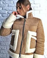 Женская дубленка тёплая осень -евро-зима, фото 1