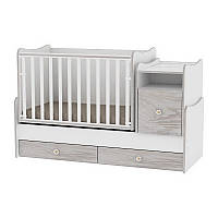 Кровать-трансформер Lorelli TREND PLUS NEW COLOUR WHITE/ARTWOOD + mattress