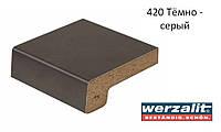 Подоконник Werzalit Exclusiv 250 мм, тёмно-серый.