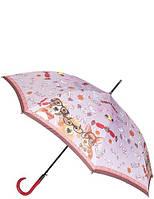Зонт трость женский розовый T-06-0298