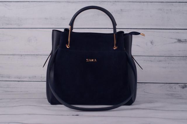 Замшевая сумочка мини шоппер
