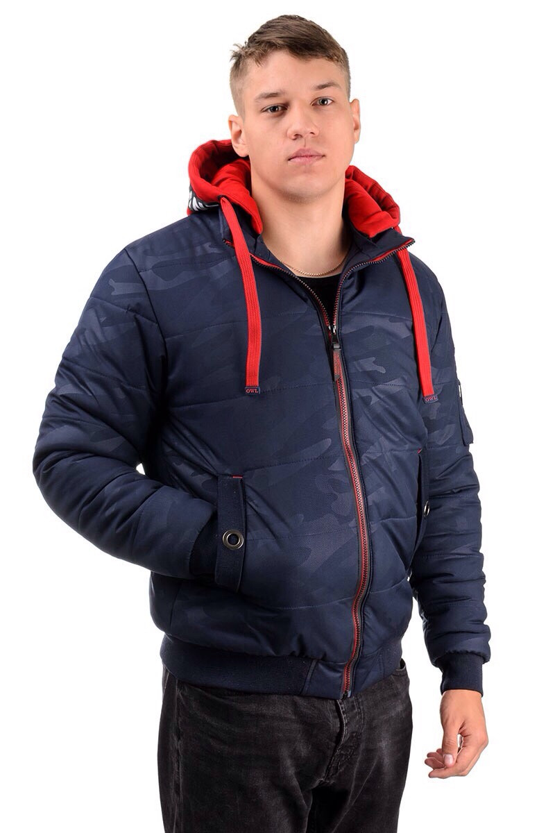 Мужская зимняя  куртка, цвет синий, размеры 44 - 54