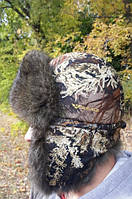 Шапка-ушанка натуральный мех Туя, фото 1