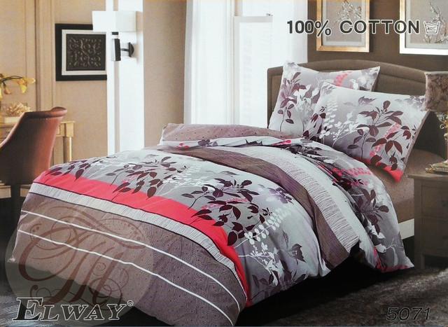 Комплект постельного белья ELWAY евро 5071