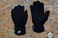 Мужские зимние черные перчатки, чоловічі рукавиці Nike Air, Реплика